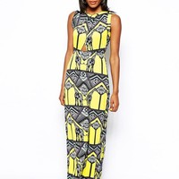 River Island | River Island Chelsea Girl Giraffe Print Maxi Dress at ASOS