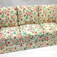 Dollhouse Miniature Furniture Living Room Couch Sofa   1:12 Free Shipping