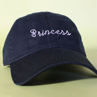 NEW Princess Baseball Hat Dad Hat Low Profile White Pink Black Casquette Embroidered Unisex Adjustable Strap Back Baseball Cap