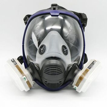 7 Piece Full Face Mask For 6800 Gas Mask Full Face Facepiece Respirator For Painting Spraying Free Shipping