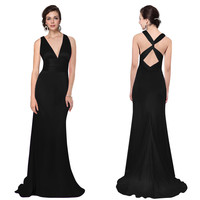 US Long Bridesmaid Evening Formal Wedding Ball Gown Prom Maxi Dresses 09008