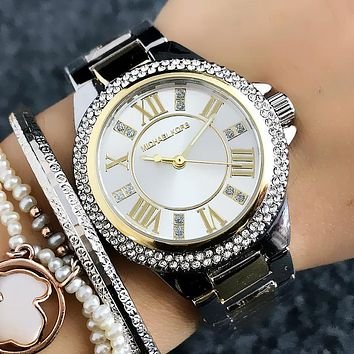 Michael Kors MK Women Fashion Diamonds Quartz Movement Wristwatch Watch