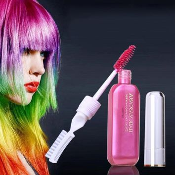 Hair Dye Color Disposable DIY Mutlicolor Not Hurt Hair Easy To Clean Easy One-time Temporary Mascara Hair Cream CL5