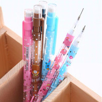 1pc Lot 0.5mm Cute Bear Series 0.5mm Automatic Pencil Point Tower Automatic Pen For Children School Supplies