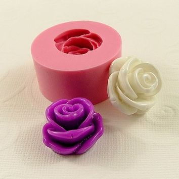 Large Rose Flexible Mold/Mould (1 inch) for Crafts, Jewelry, Scrapbooking (soap, resin, pmc, polymer clay) (179)