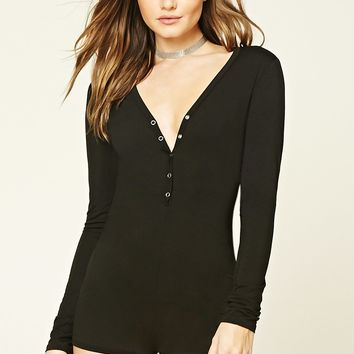 Snap-Button Front Romper