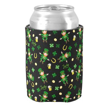 St Patricks day pattern Can Cooler