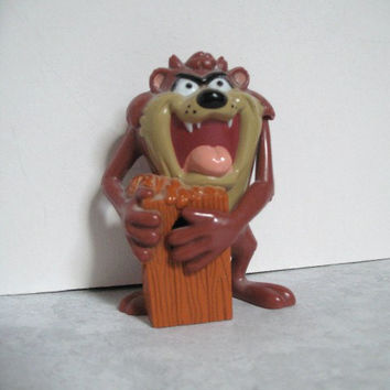 Vintage Tasmanian Devil Gumball Dispenser 1988 Warner Brothers Cartoon Character Taz Pocket Pack Dispenser