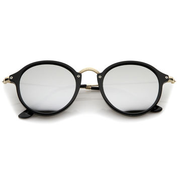 Steampunk Dapper Mirrored Round Lens Sunglasses A774