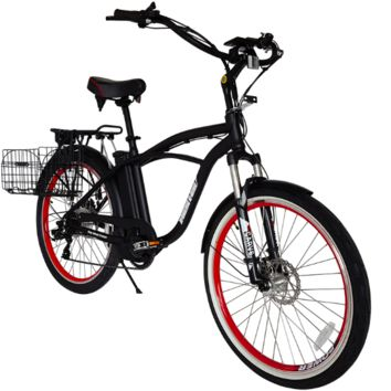 X-Treme Kona Electric Bike 25 MPH 36 Volt Beach Cruiser Throttle Power Assist