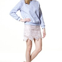 Danny Love Lace Overlay Top Discover the latest fashion trends online at storets.com