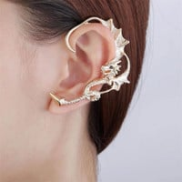 Dragon ear cuff  - Rose gold ear cuff - Punk ear cuff - Bohemain ear cuff - Halloween ear cuff