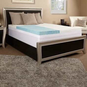 "Anew Edit 4"" Gel Memory Foam Mattress Topper You'll Love 
