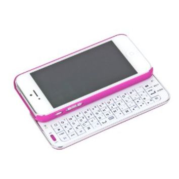 Abco Tech Bluetooth Sliding Keyboard iPhone 5 Case - Pink -
