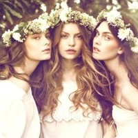 long hair flower headpiece - Hairstyles and Beauty Tips