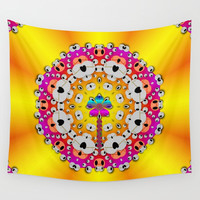 Fantasy flower in tones Wall Tapestry by Pepita Selles