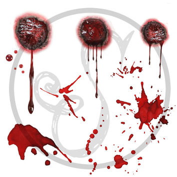 Set of 6 Zombie temporary tattoo - Walking, dead, Blood, Fandom, Tattoo, Haunted, Costume