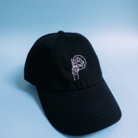 THE DOPE LYFE — [DEATH] 6 PANEL CAP BLACK