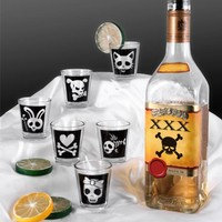 Cutsey Skulls 1.5oz Shot Glass Set - 6 Pack