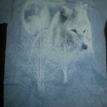 New WHITE WOLF MOON T SHIRT