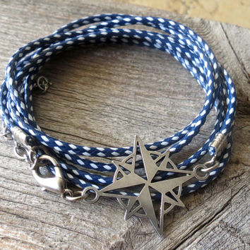 Men Bracelet - Men Compass Bracelet - Men Jewelry - Men Gift - Father Day Gift - Husband Gift - Boyfriend Gift - Present For Men - Male