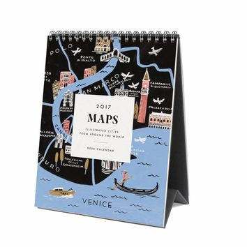 2017 Maps Desk Calendar by RIFLE PAPER Co.   Made in USA