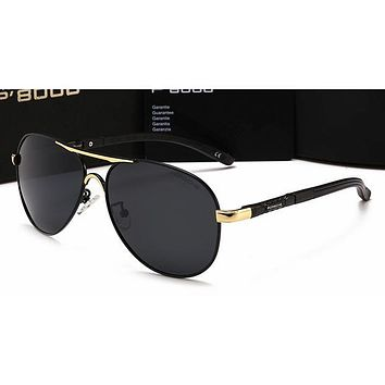 Gucci Personality Women Casual Sun Shades Eyeglasses Glasses Sunglasses Golden Frame+Black G