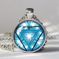 Iron Man Arc Reactor Pendant Necklace Iron Man Arc Reactor Pendant Iron Man Arc Reactor Necklace