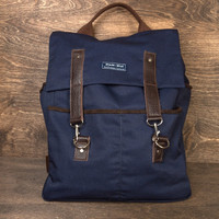 Navy Twill Backpack