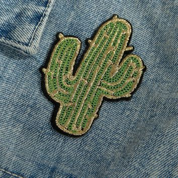 Skinnydip Cactus Sequin Patch Sticker