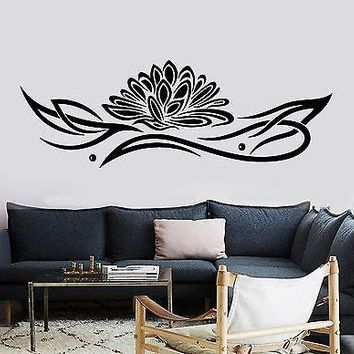 Wall Sticker Lotus Relaxation Ornament Zen Lotus Vinyl Decal Unique Gift (z2934)