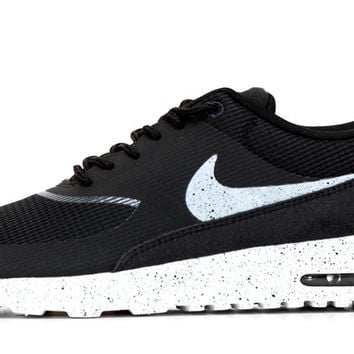 Nike Air Max Thea - Paint Speckled Sole   Swoosh - Black White G 27f45c56b