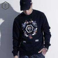 Print Long Sleeve Men's Fashion Winter Pattern Hoodies [8822201603]