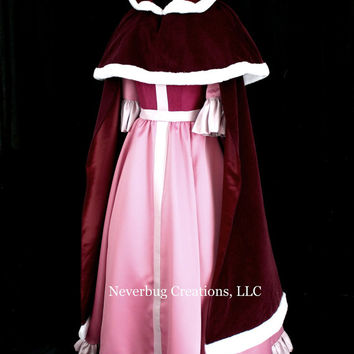 Belle Pink Dress with Optional Cape