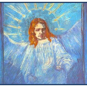 Figure of an Angel by Vincent Van Gogh Counted Cross Stitch Pattern