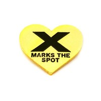X Marks The Spot Pin