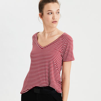 AE Soft & Sexy V-Neck T-Shirt, Red