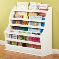 Kids' Bookcases: Kids White Floor Book Bin