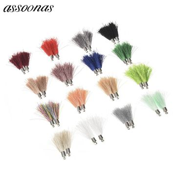 assoonas L45/jewelry findings/jewelry accessories/accessory parts/Silk tassel 10pcs/bag/diy jewelry findings/jewellery making