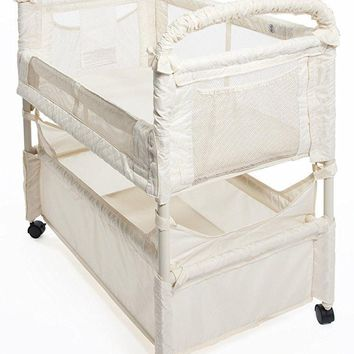 Arm's Reach Clear-Vue Baby Co-Sleeper Bedside Bassinet Natural NEW
