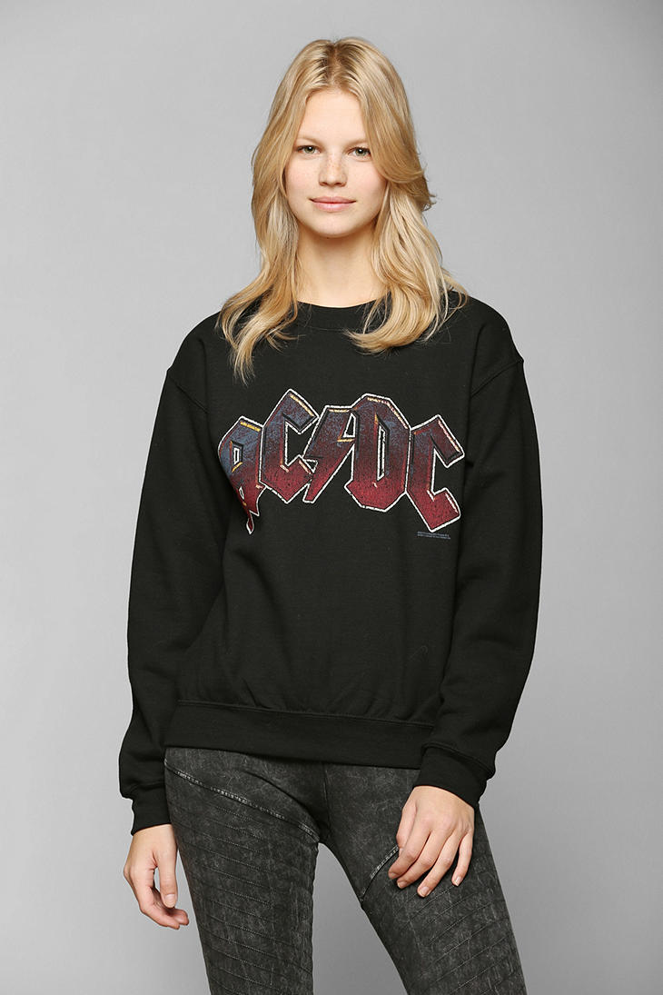 ac dc graphic pullover sweatshirt urban from urban. Black Bedroom Furniture Sets. Home Design Ideas