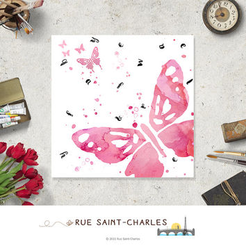 FLY Away printable art watercolor butterfly printable art digital art inspirational art print instant download art prints motivational art