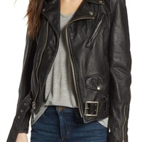 Schott NYC Boyfriend Leather Jacket | Nordstrom