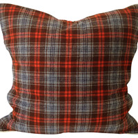 One Kings Lane - The Well-Appointed Library - Plaid   Sham
