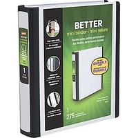"1"" Staples® Better® 5-1\/2\"" x 8-1\/2\"" Mini View Binders with D-Rings 