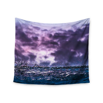 "Colin Pierce ""Grape Drops"" Lavender Magenta Photoraphy Wall Tapestry"