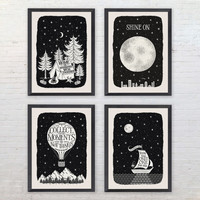 Big Sky Monochrome Travel Print Collection