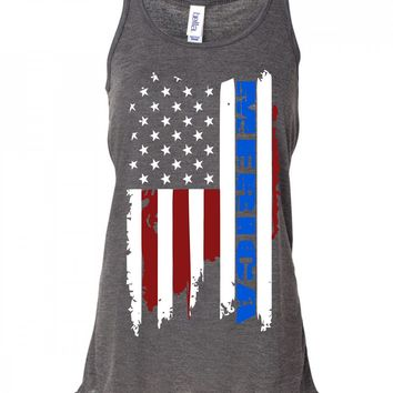 Merica Flag Fourth of July Tank Top For Women
