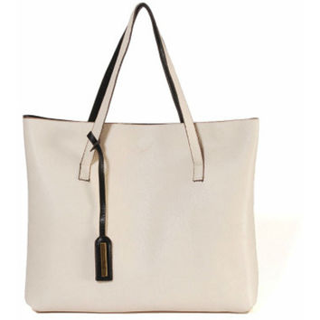 Street Level Reversible Tote Bag-White