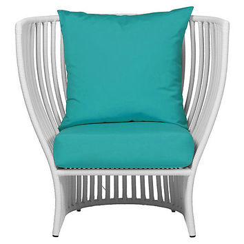Napa Outdoor Lounge Chair, Aqua - Alfresco Dining - Outdoor Essentials - Outdoor | One Kings Lane